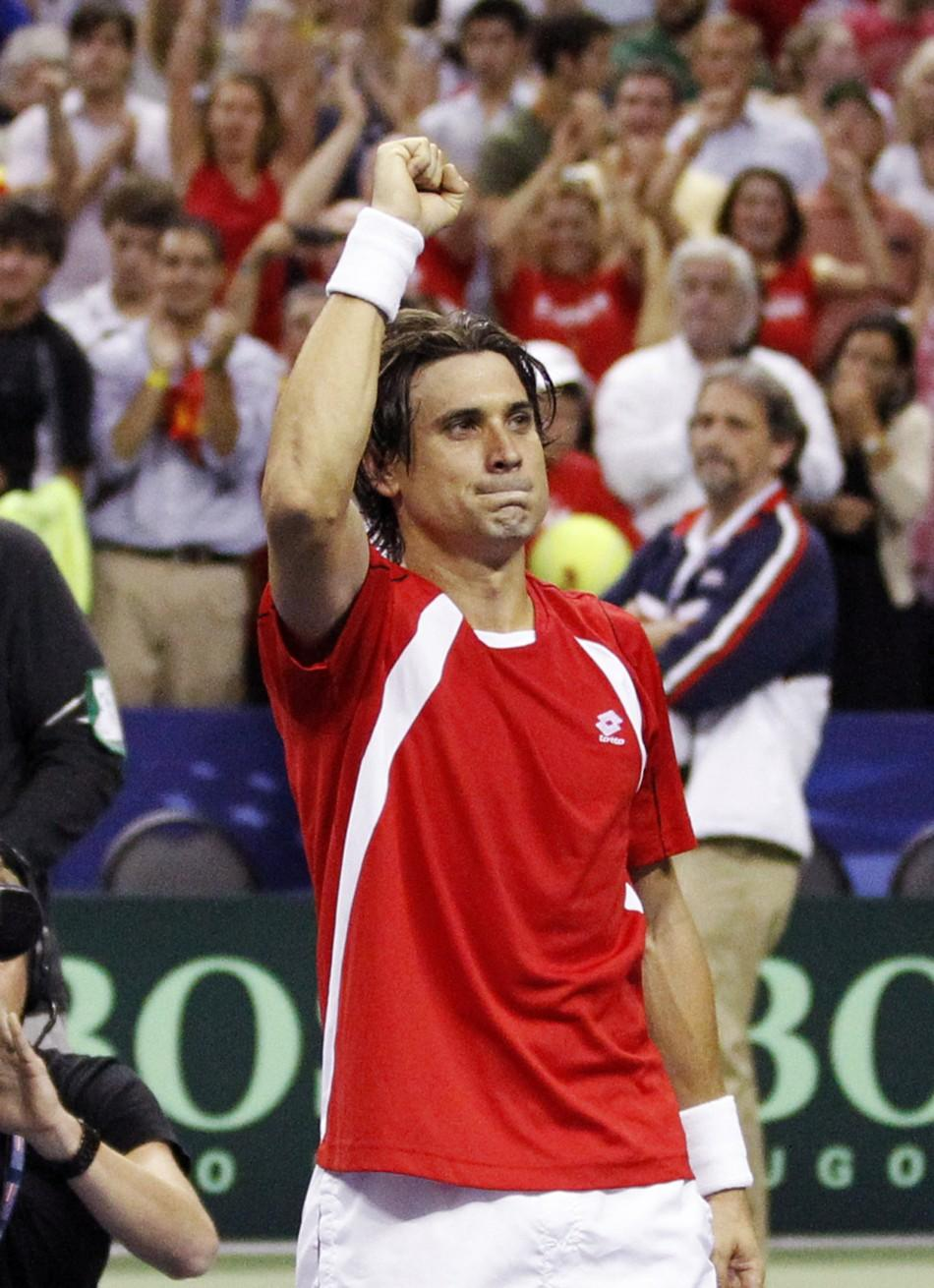 David Ferrrer defeating Mandy Fish booked Spain in semi-finals of Davis Cup