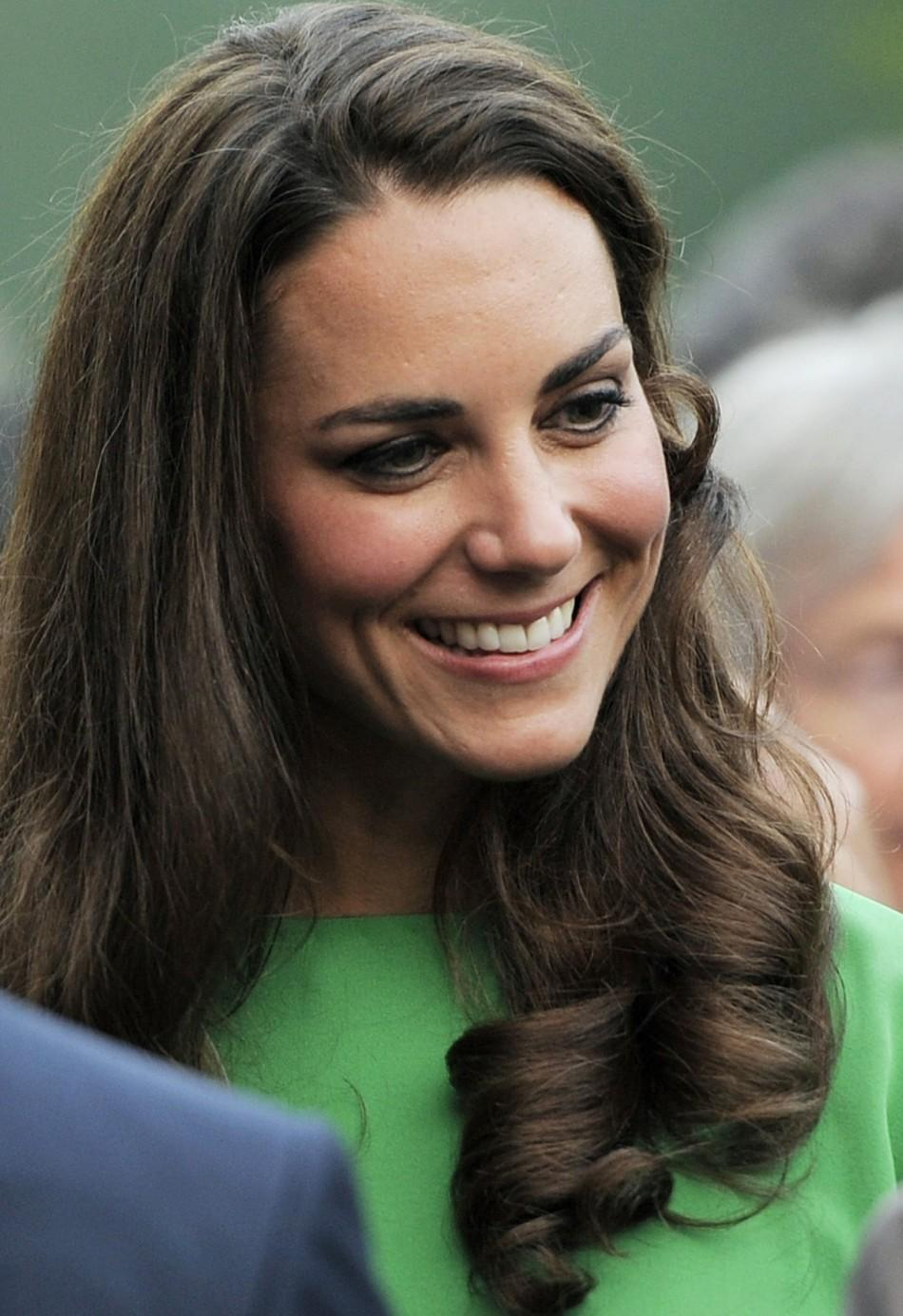 Britain's Catherine, Duchess of Cambridge attends a private reception at the British Consul-General's residence in Los Angeles