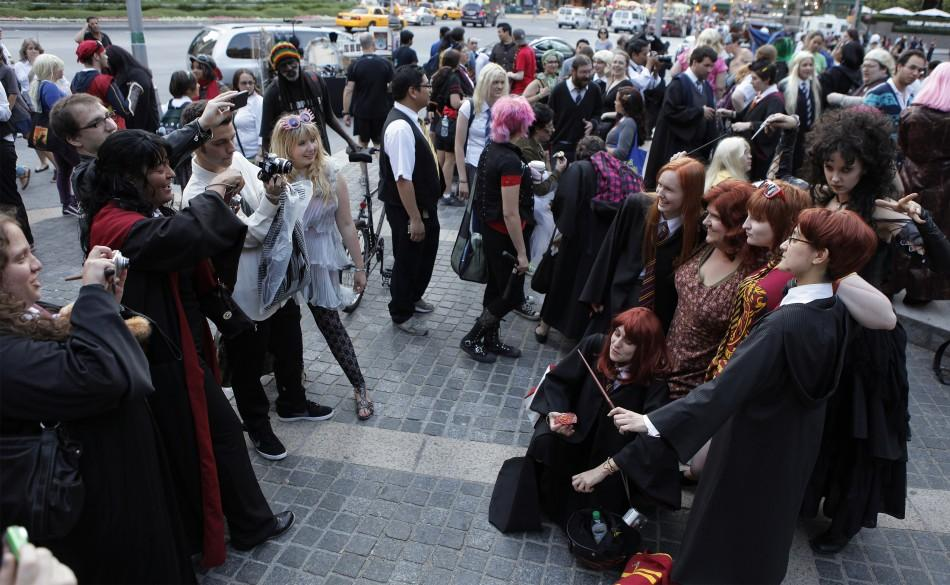 "Members of the Harry Potter fan group ""The Group That Shall Not Be Named"" congregate in New York"