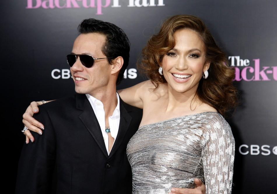 Jennifer Lopez and Marc Anthony on 4/22/10