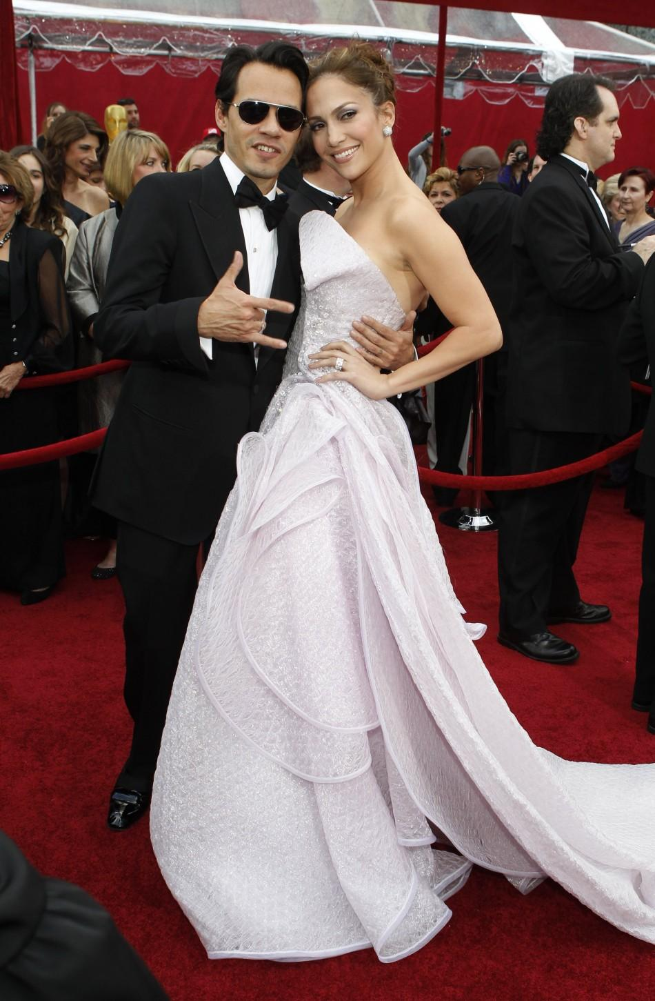 Jennifer Lopez and Marc Anthony on 3/8/10