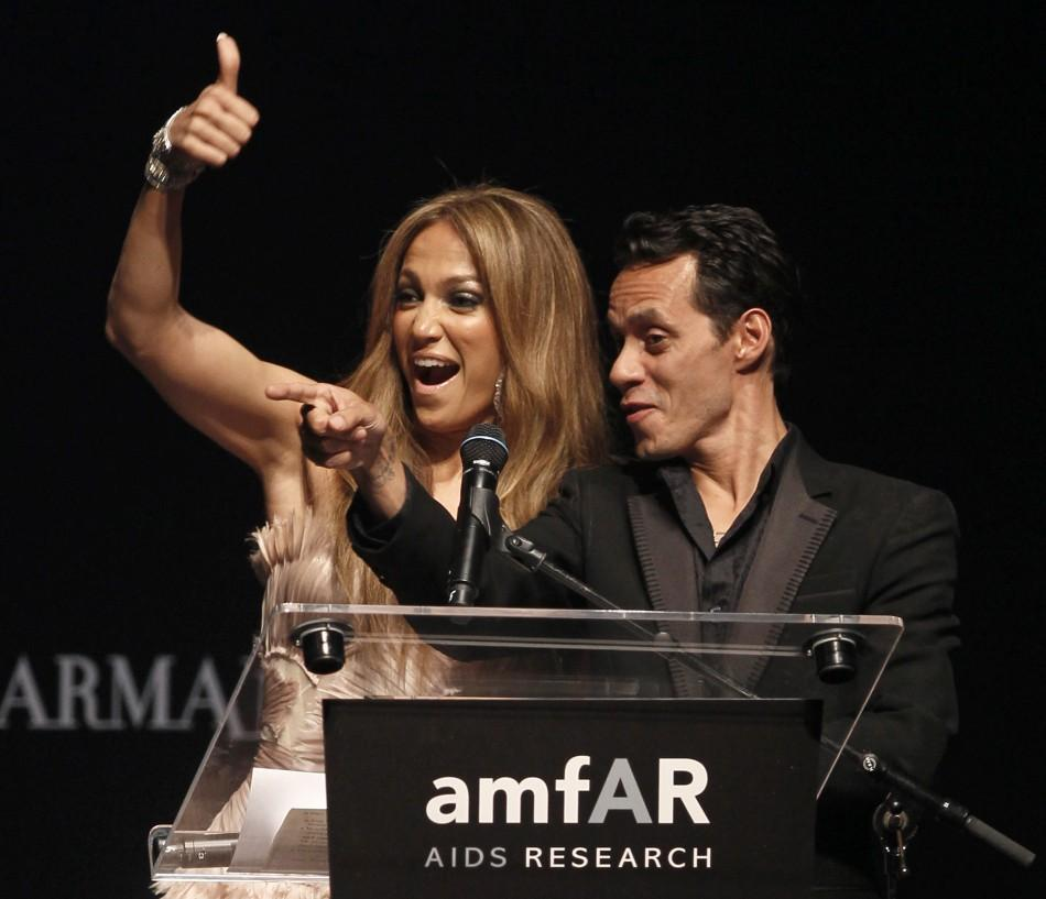 Jennifer Lopez and Marc Anthony on 5/21/10