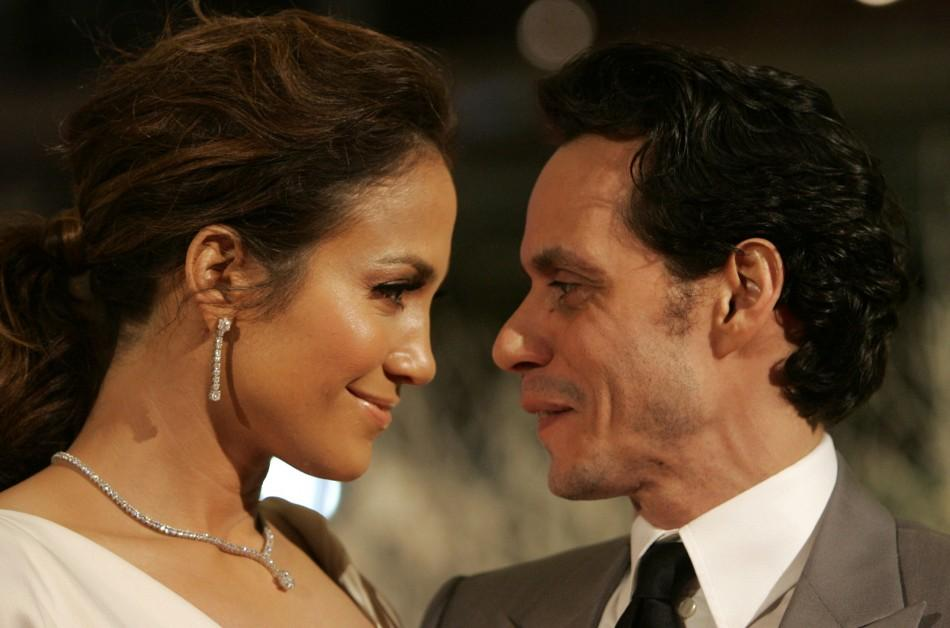 Jennifer Lopez and Marc Anthony on 2/15/07