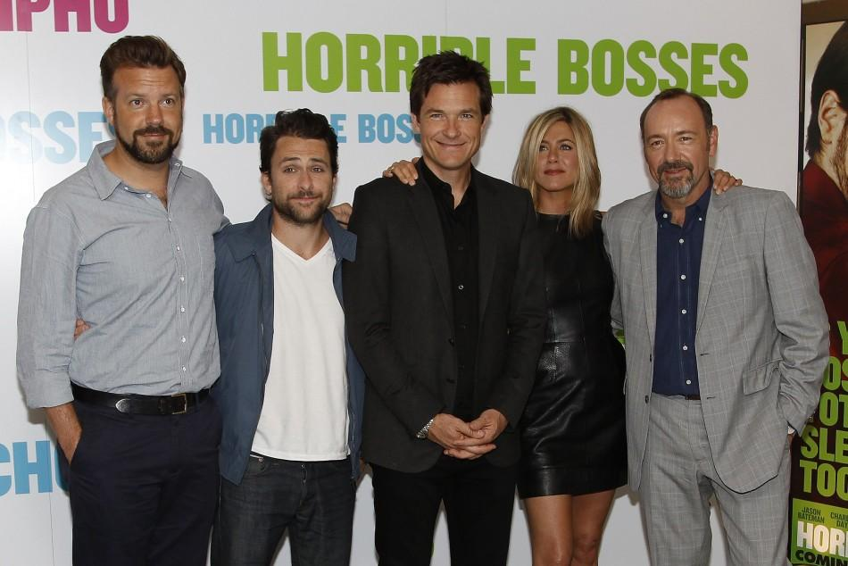 Jason Sudeikis, Charlie Day, Jason Bateman, Jennifer Aniston and Kevin Spacey