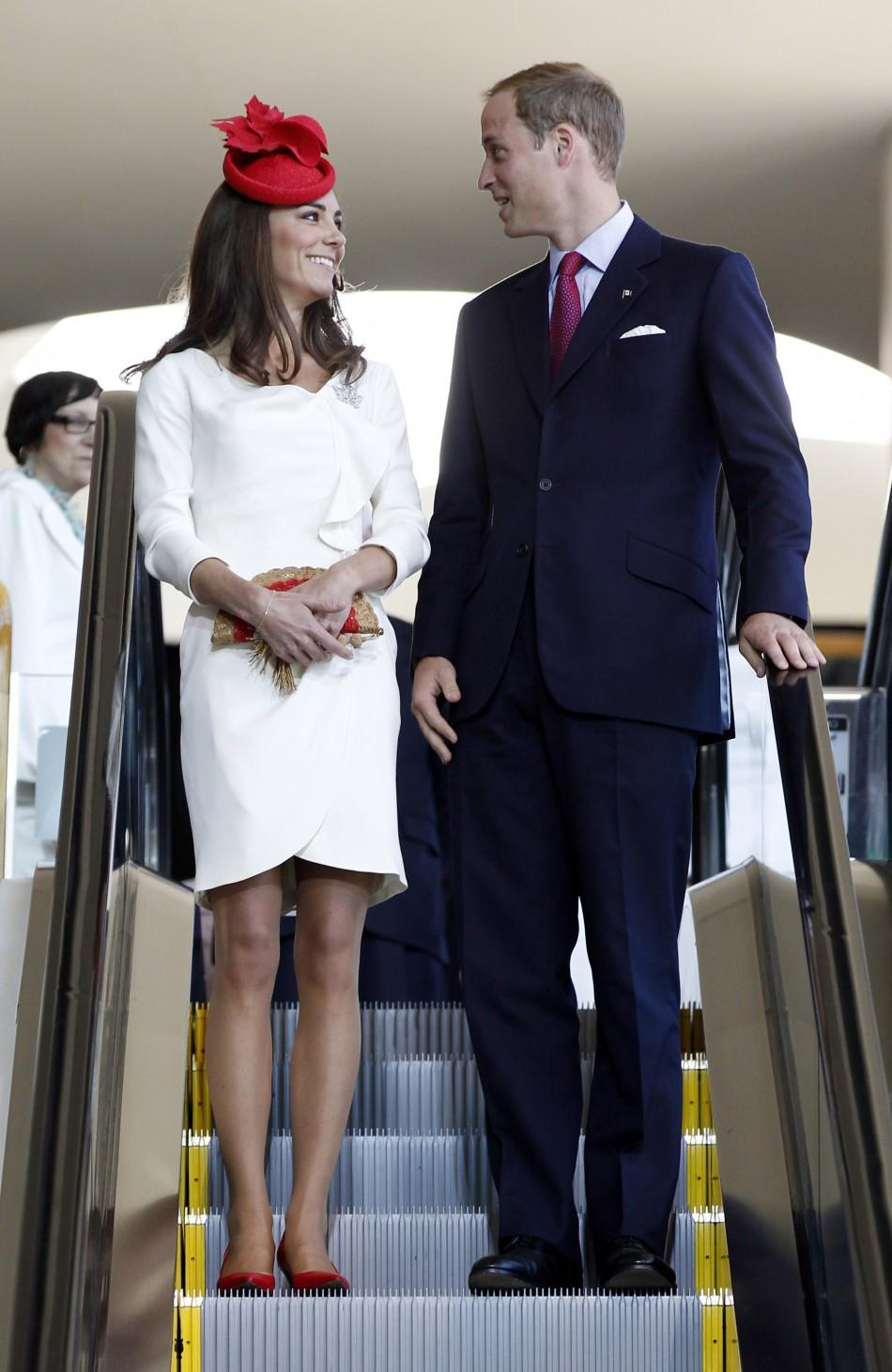 Kate Middleton Wears White Reiss Dress In Canada