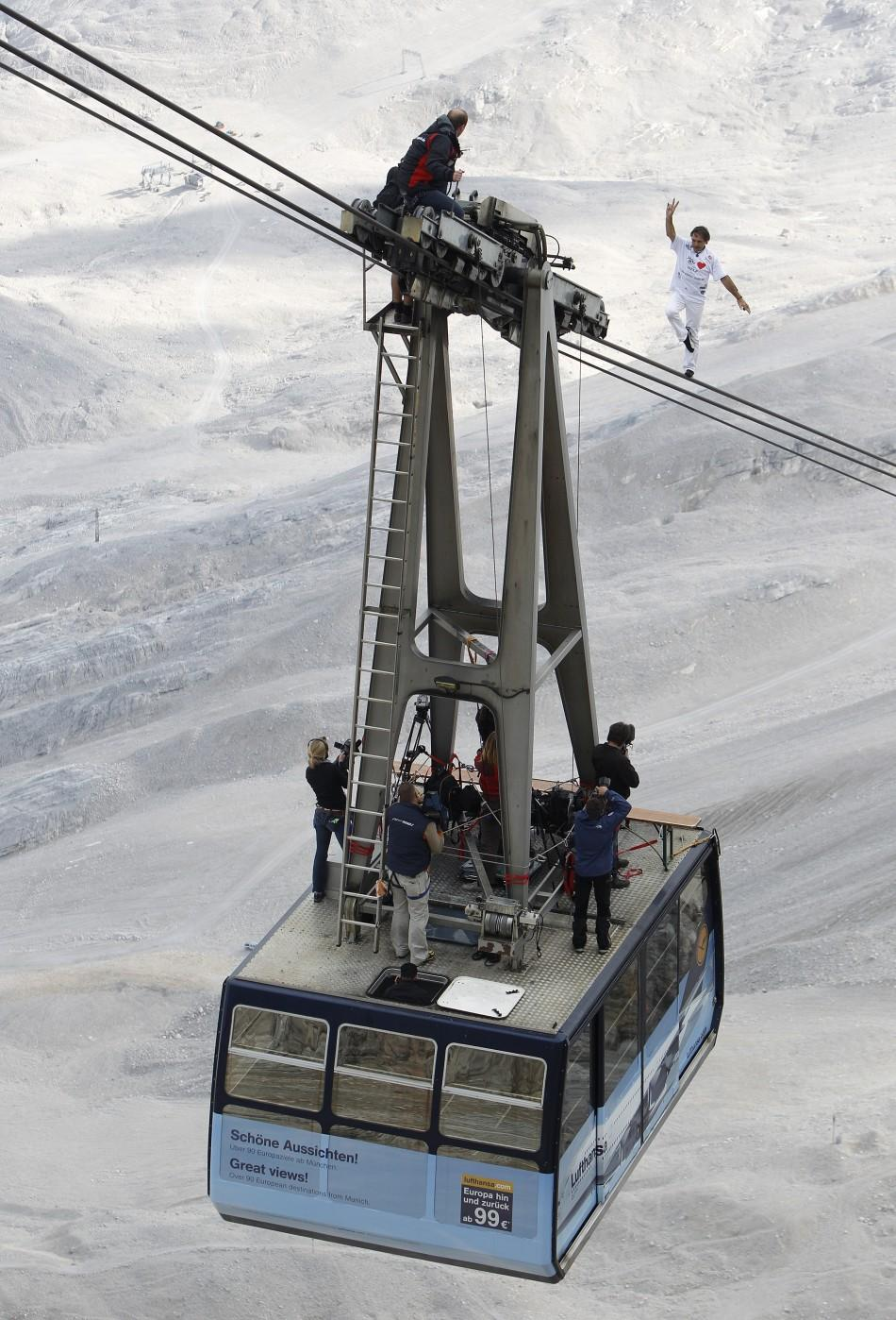 A Record-Breaking Rope Walk on Germany's Highest Ropeway