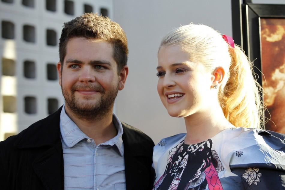 "Director Jack Osbourne and his sister Kelly pose at a private preview of the documentary ""God Bless Ozzy Osbourne"" at the Arclight Cinerama Dome in Hollywood, California"