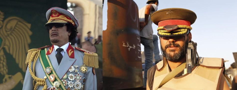 Army Hat Stolen, Symbolic Statue Attacked: Gaddafi Pledges 'death or victory'.