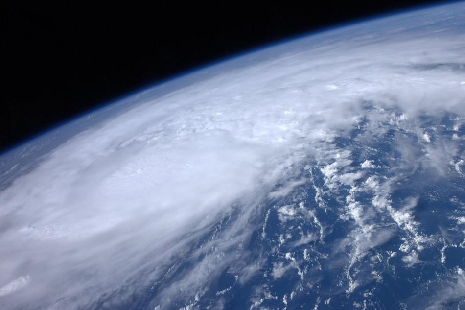 NASA handout image of Hurricane Irene moving over the Caribbean taken by astronaut Ron Garan from the International Space Station