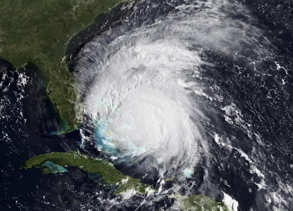 NOAA handout satellite image of Hurricane Irene