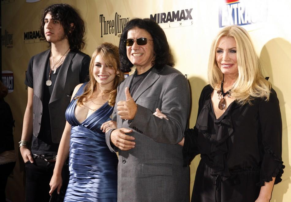 Gene Simmons, Shannon Tweed, their daughter Sophie Simmons and son Nick Tweed-Simmons