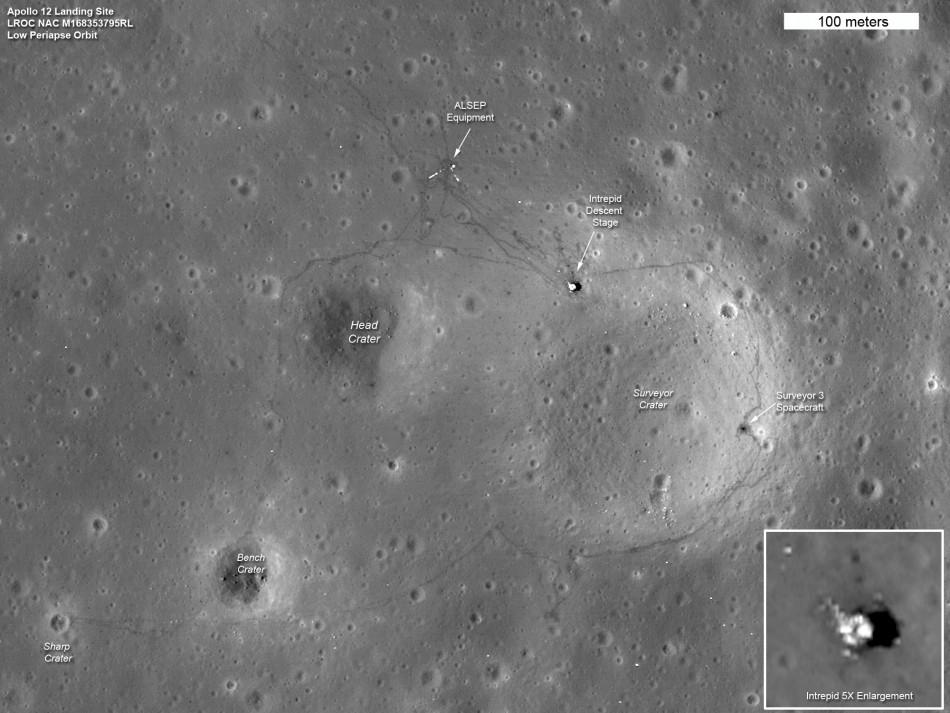 NASA's Lunar Reconnaissance Orbiter image of the moon's surface