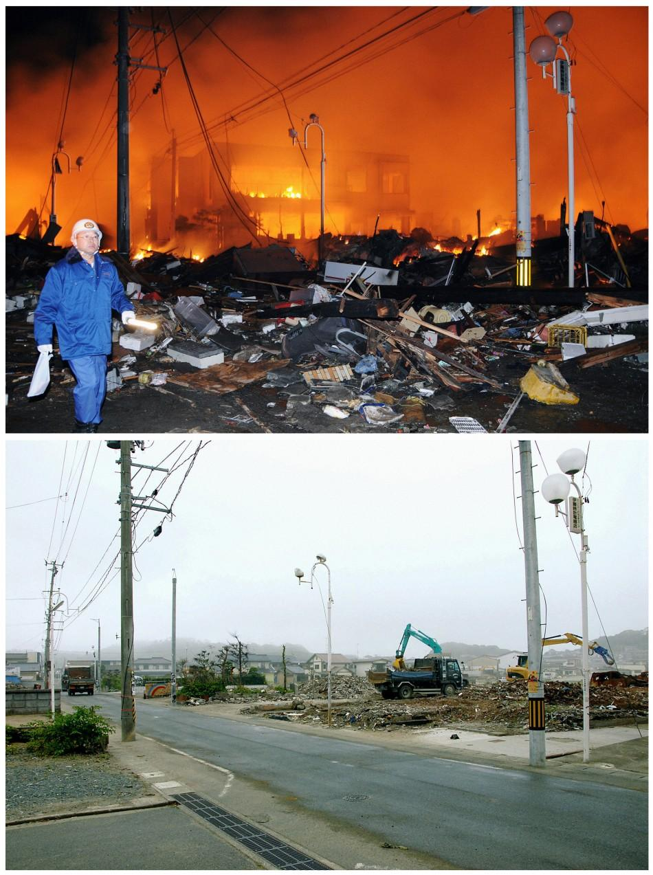 March 11 Tsunami Aftermath, Then and Now