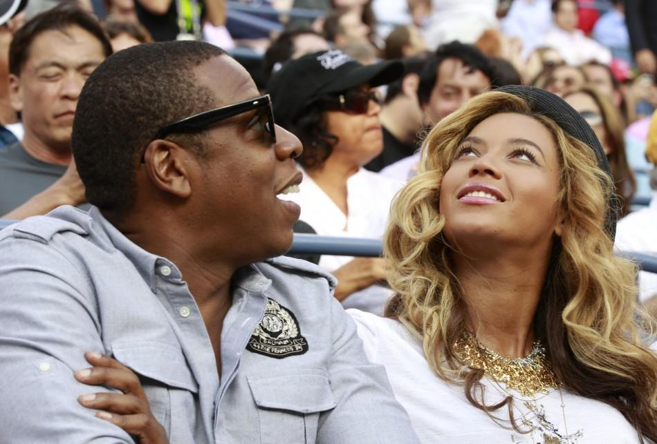 Rapper Jay-Z and his wife, singer Beyonce