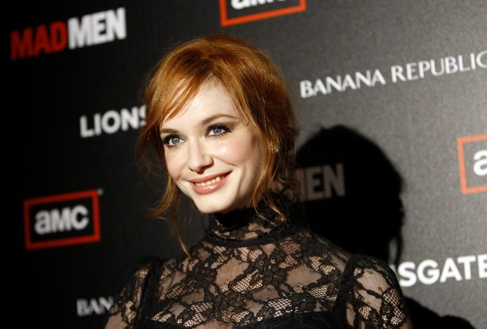 "Christina Hendricks poses at the premiere for the fourth season of the television series ""Mad Men"" at the Mann 6 theatre in Hollywood, California July 20, 2010"
