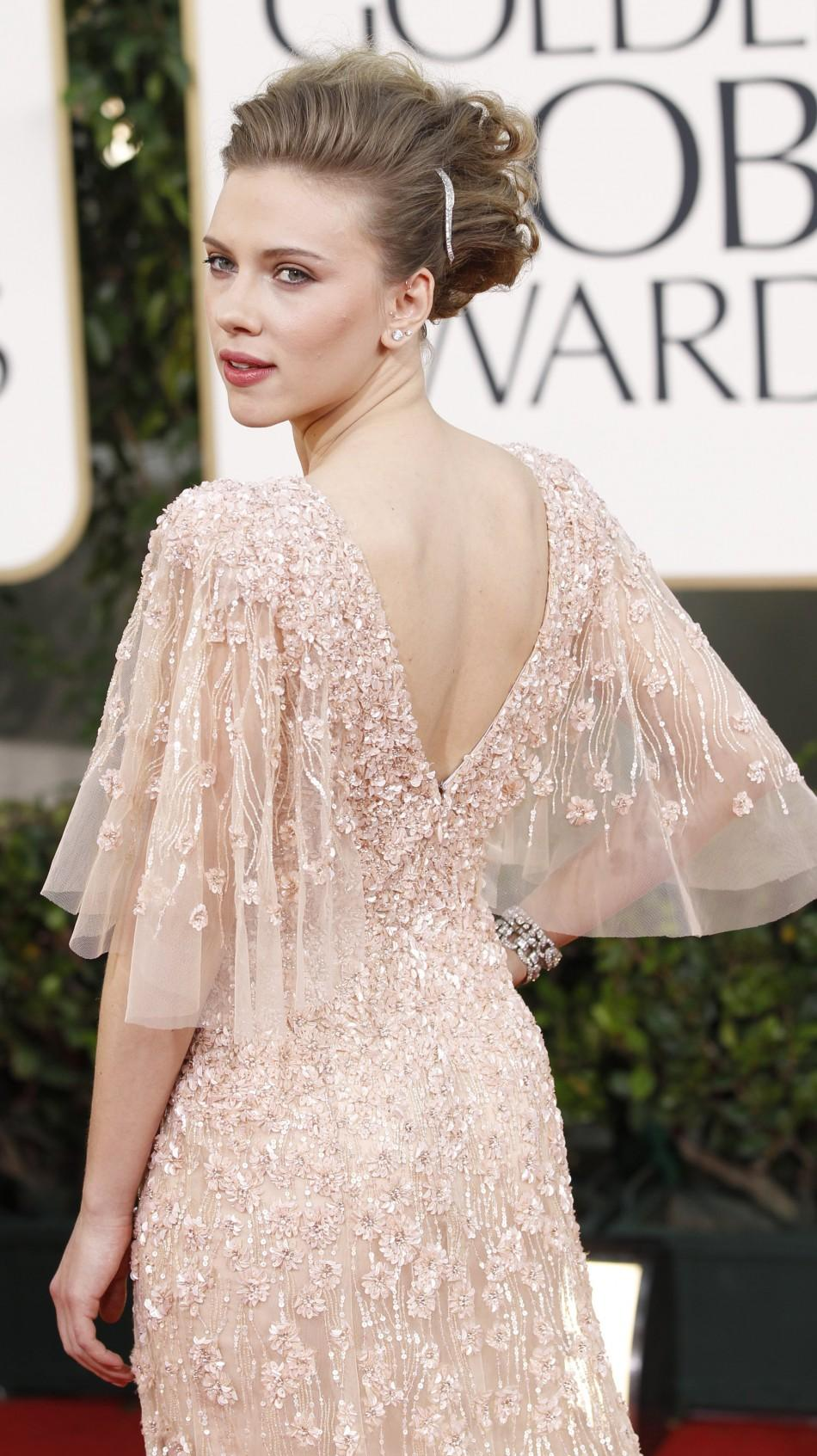Actress Scarlett Johansson arrives at the 68th annual Golden Globe Awards in Beverly Hills