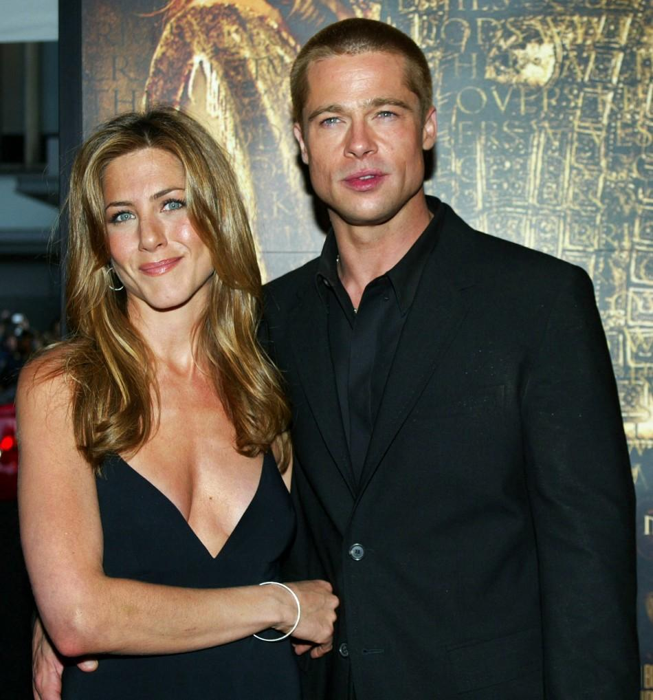 Brad Pitt and his former wife, actress Jennifer Aniston
