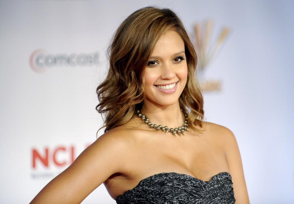 Actress Jessica Alba arrives at the 2011 National Council of La Raza ALMA Awards in Santa Monica, California