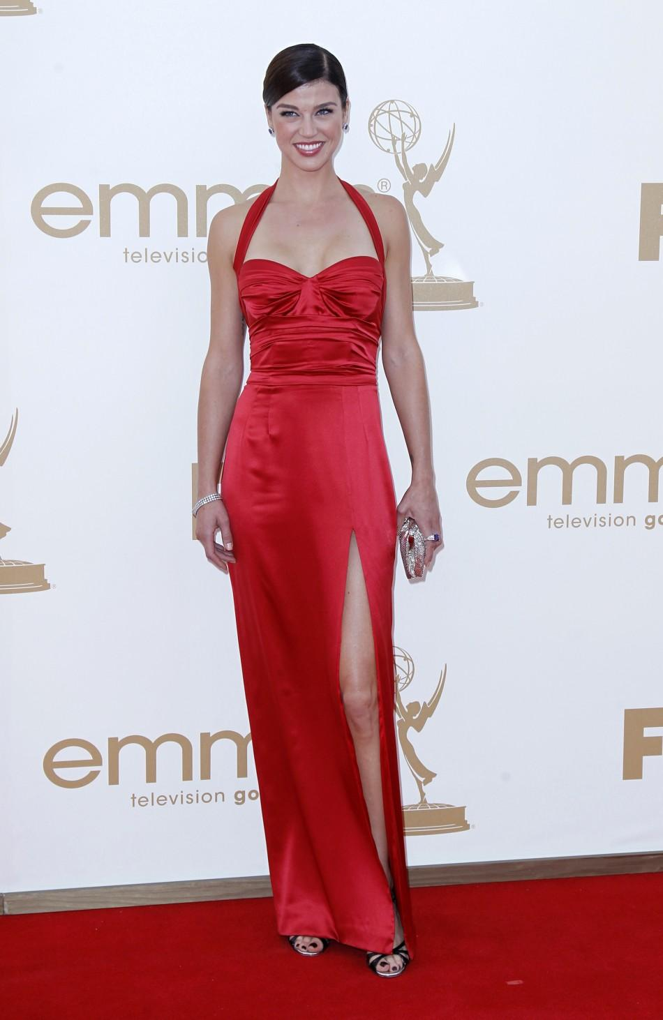 "Actress Adrianne Palicki from ""Friday Night Lights"" arrives at the 63rd Primetime Emmy Awards in Los Angeles September 18, 2011."