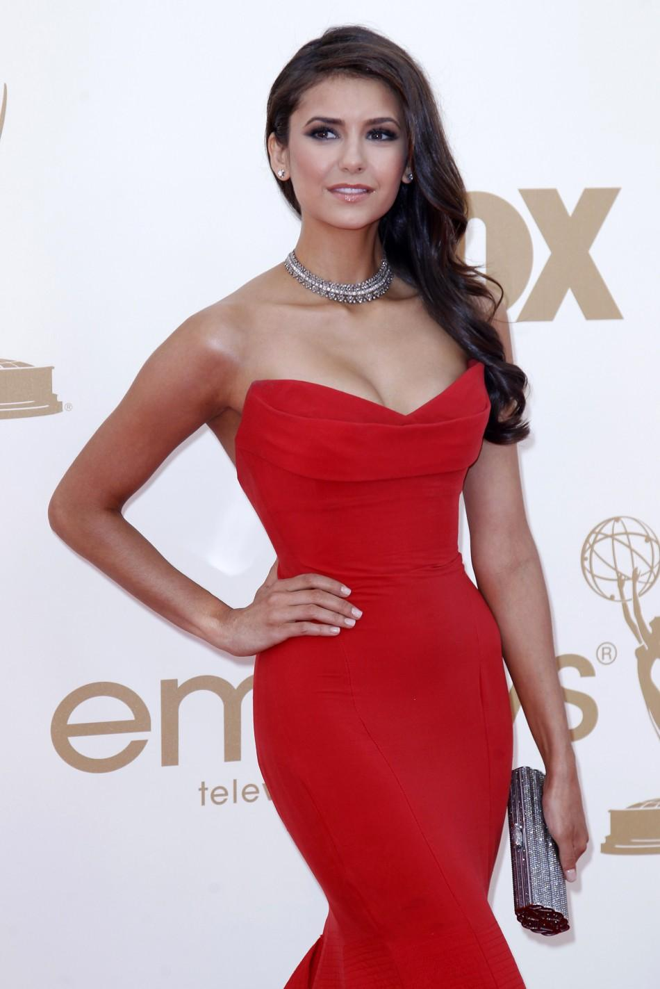 Actress Nina Dobrev arrives at the 63rd Primetime Emmy Awards in Los Angeles September 18, 2011.