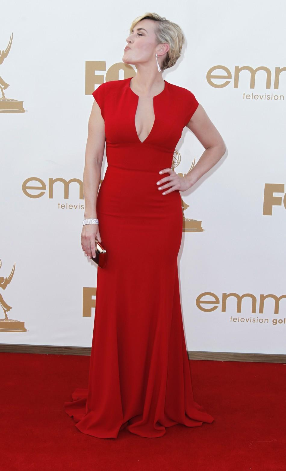Actress Kate Winslet arrives at the 63rd Primetime Emmy Awards in Los Angeles