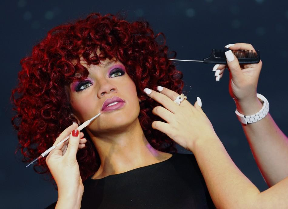 Wax figure of singer Rihanna
