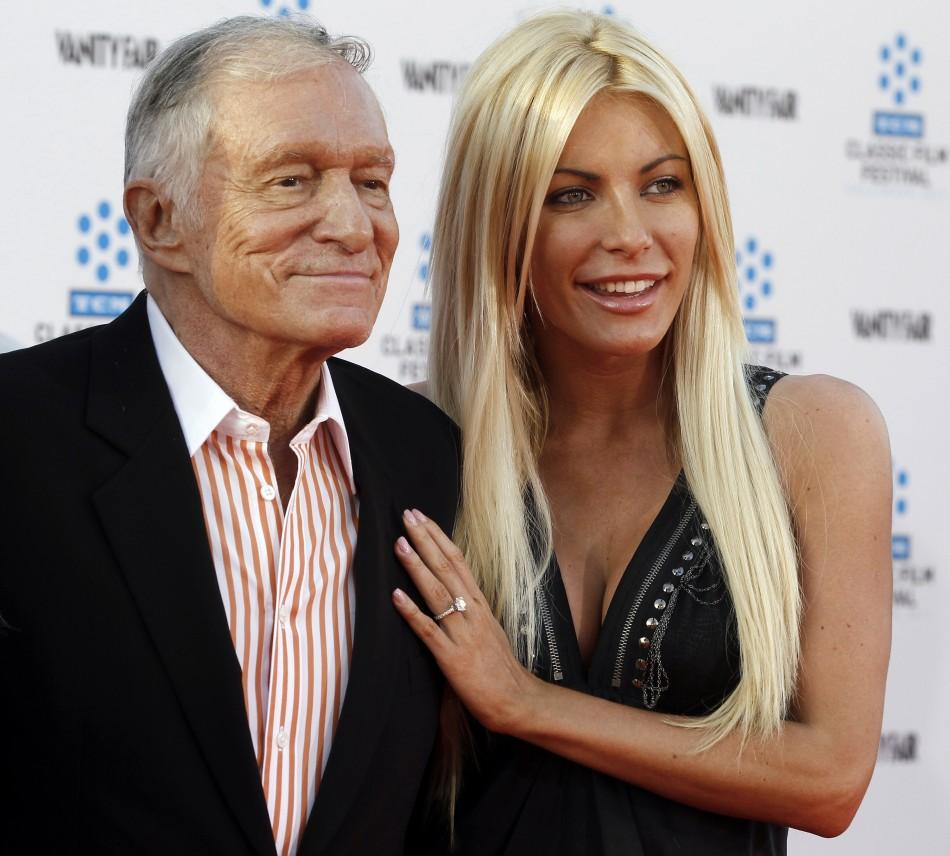 Hugh Hefner and his fiancee, Playboy Playmate Crystal Harris