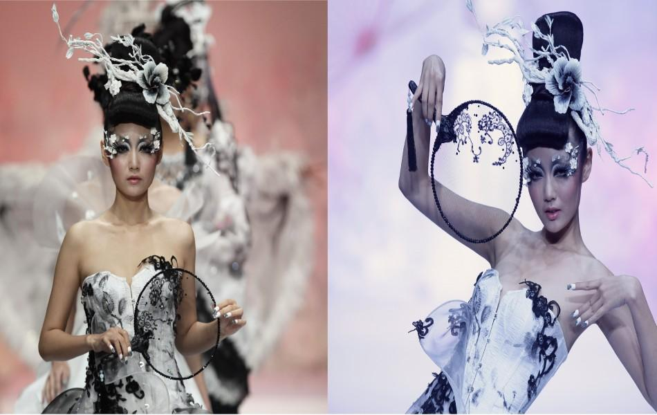 China Fashion Week 2011: Models Presents 'MGPIN' Gothic Make-up, Styling Creations [PHOTOS]