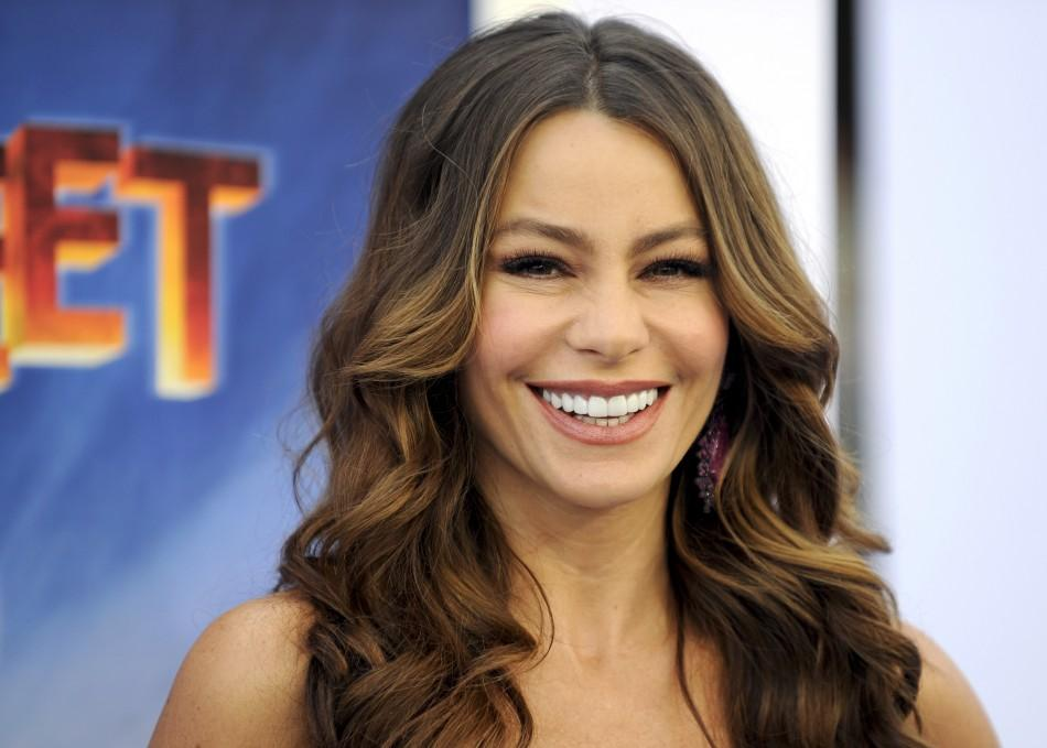 "Colombian actress and voice of Carmen, Sofia Vergara arrives at the premiere of ""Happy Feet Two"" in the Hollywood area of Los Angeles, California"