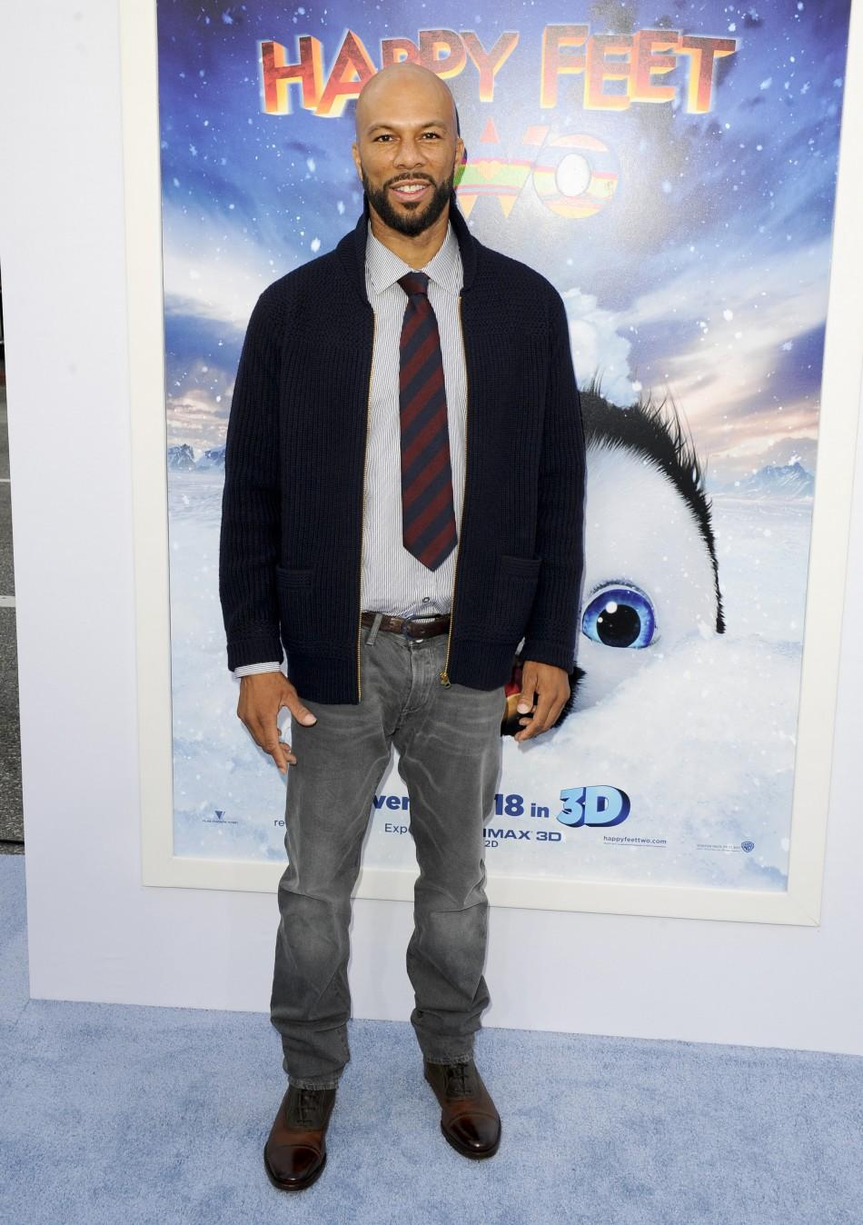 "Actor and voice of Seymour, Common, arrives at the premiere of ""Happy Feet Two"" in the Hollywood area of Los Angeles, California"