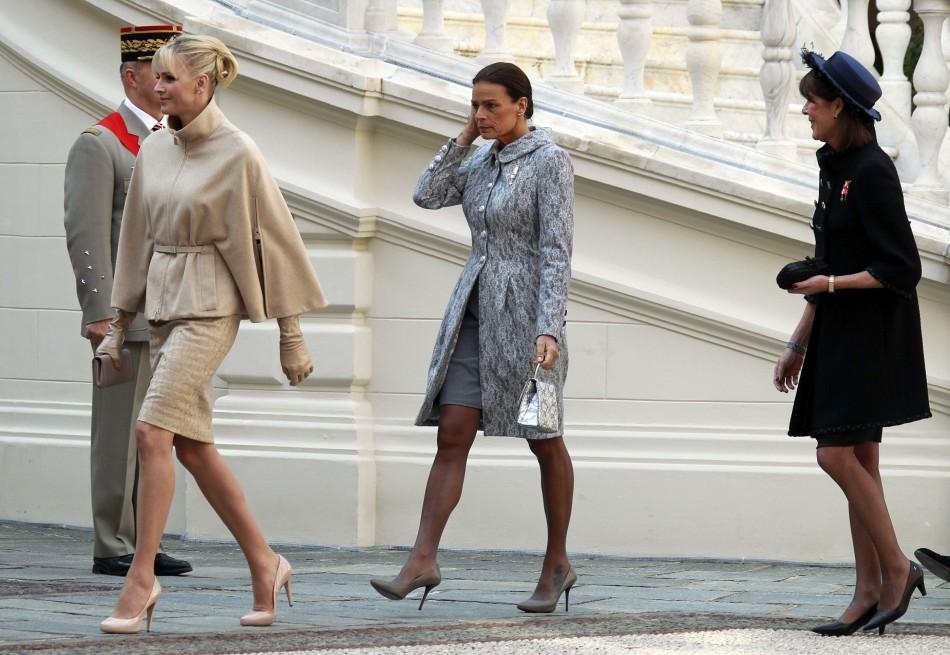 Princess Charlene in Monochromatic Outfits for 2011 Monaco National Day