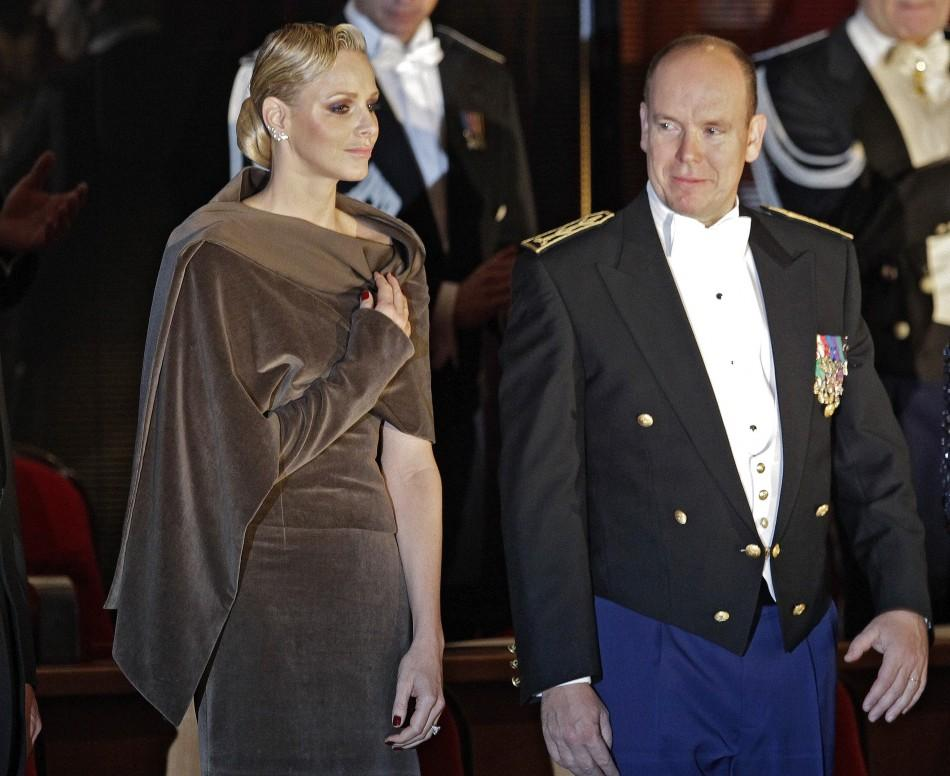 Princess Charlene in Monochromatic Outfits for 2011 Monaco National Day November 19, 2011.