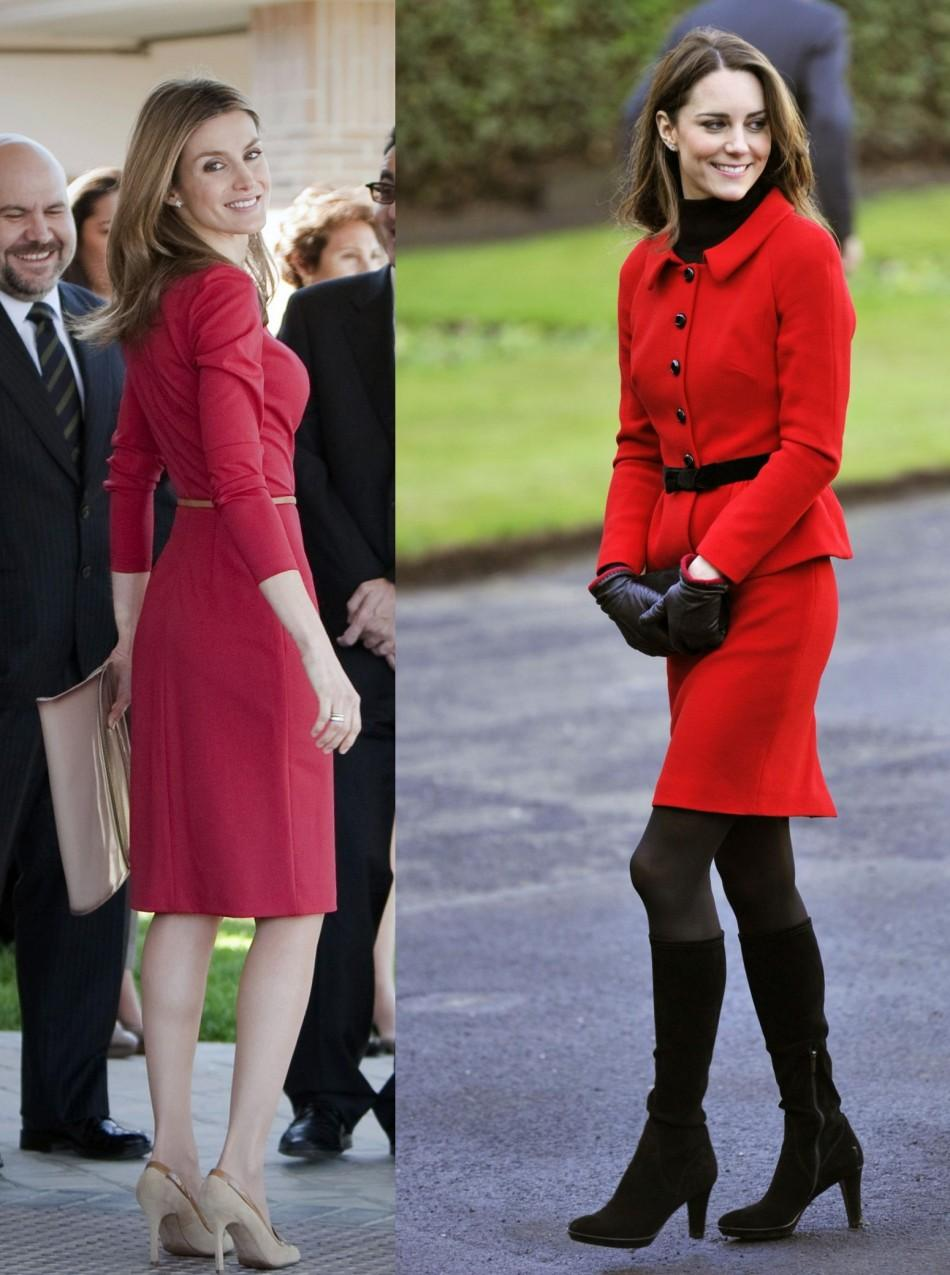 Royals in Red: Princess Letizia vs. Catherine Middleton