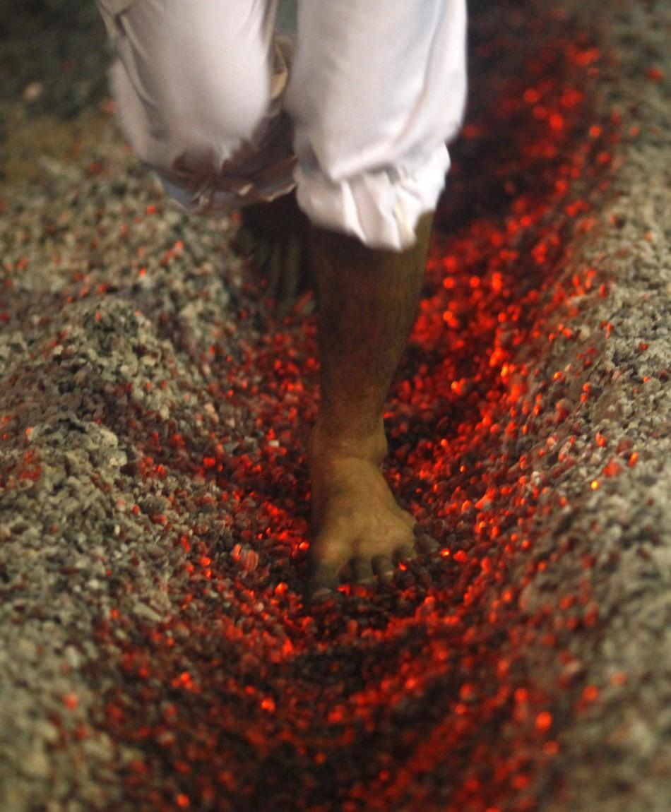 Shia Muslims Practice Self-Flagellation and Walk on Fire Prior to Ashura