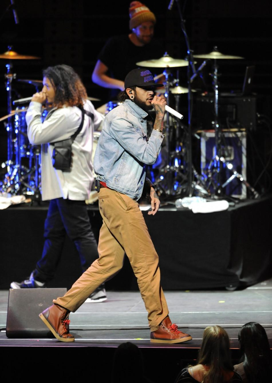 The band Gym Class Heroes performs at the 102.7 KIIS FM's Jingle Ball 2011 in Los Angeles