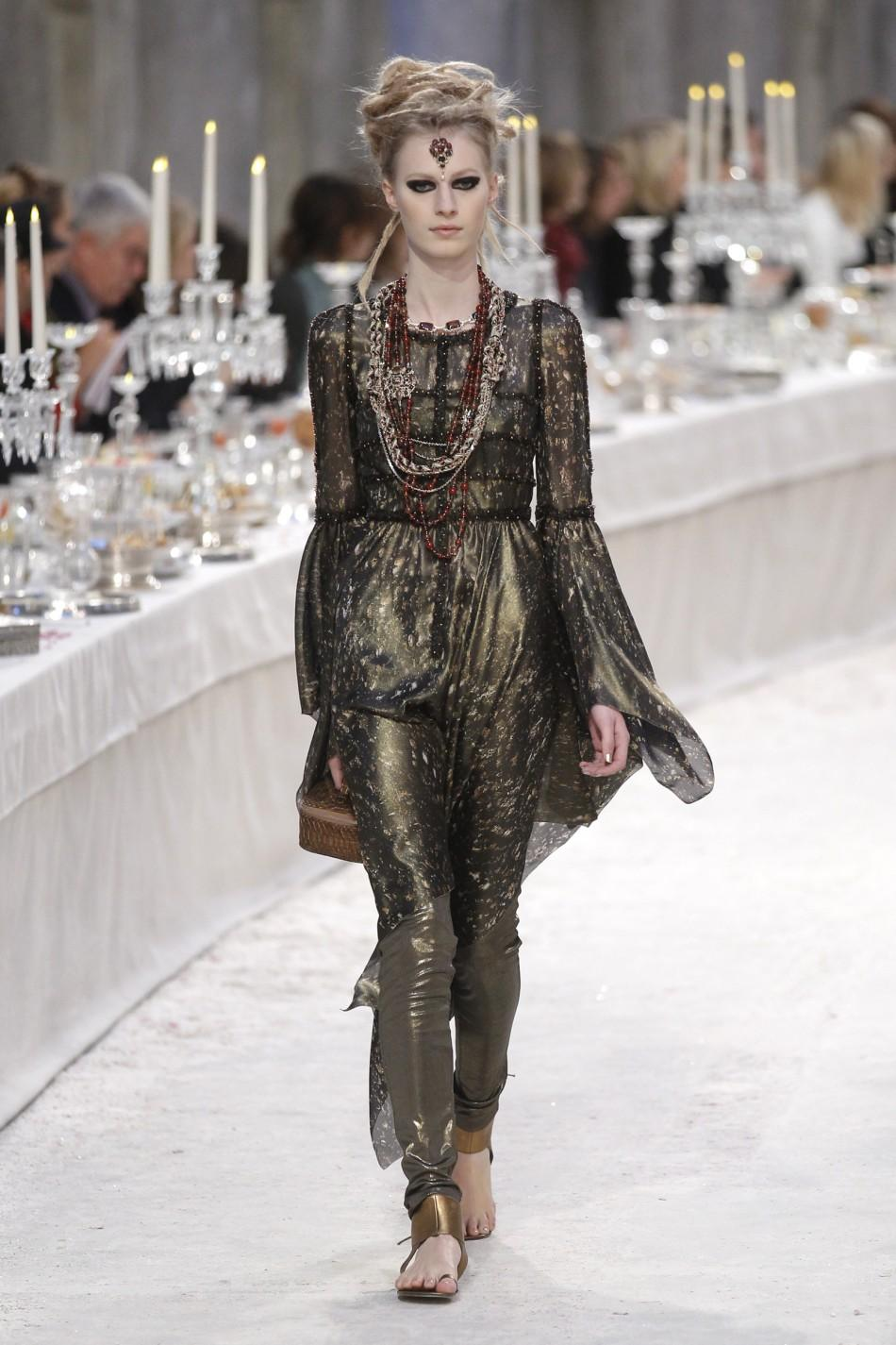 Metiers D'Art Show for Chanel fashion house in Paris