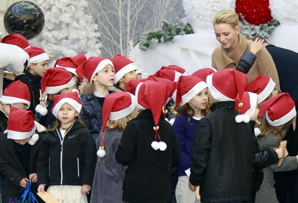 Princess Charlene at Christmas Tree Ceremony
