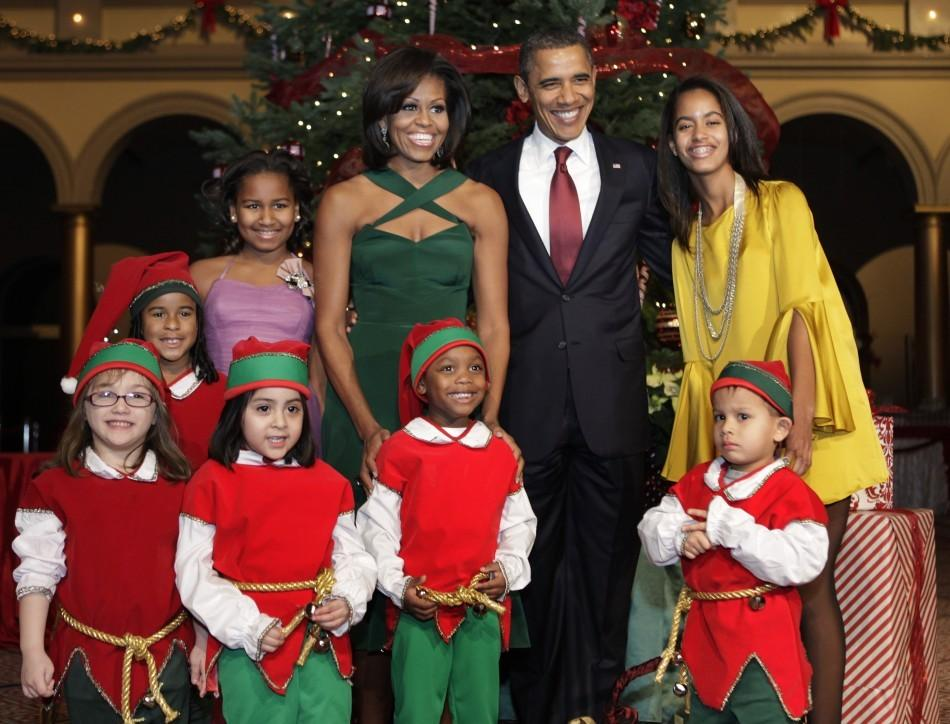 Obama Christmas Card Released: First Family Celebrates Holidays [PHOTOS]
