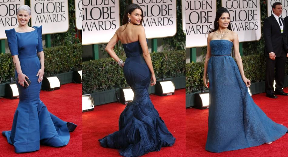 Actresses Flaunt Strikingly Similar Colored Gowns on Red Carpet