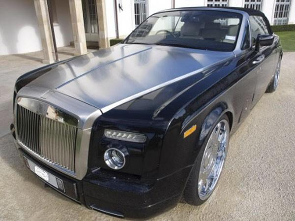 Handout picture of a Rolls-Royce Phantom Drophead Coupe at the Auckland residence of Kim Dotcom