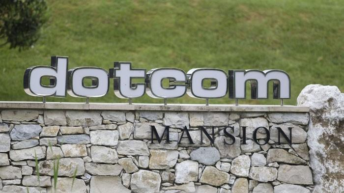 The entrance of the Dotcom Mansion, home of accused Kim Dotcom, is seen in Coatesville