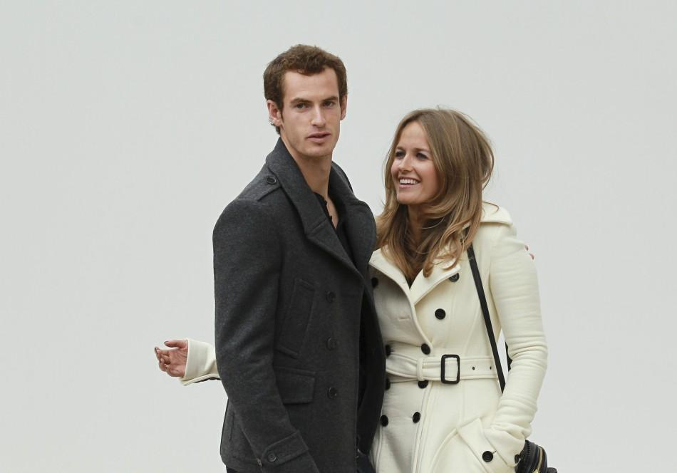 British tennis player Murray and his girlfriend Sears arrive for Burberry fashion show, during London Fashion Week