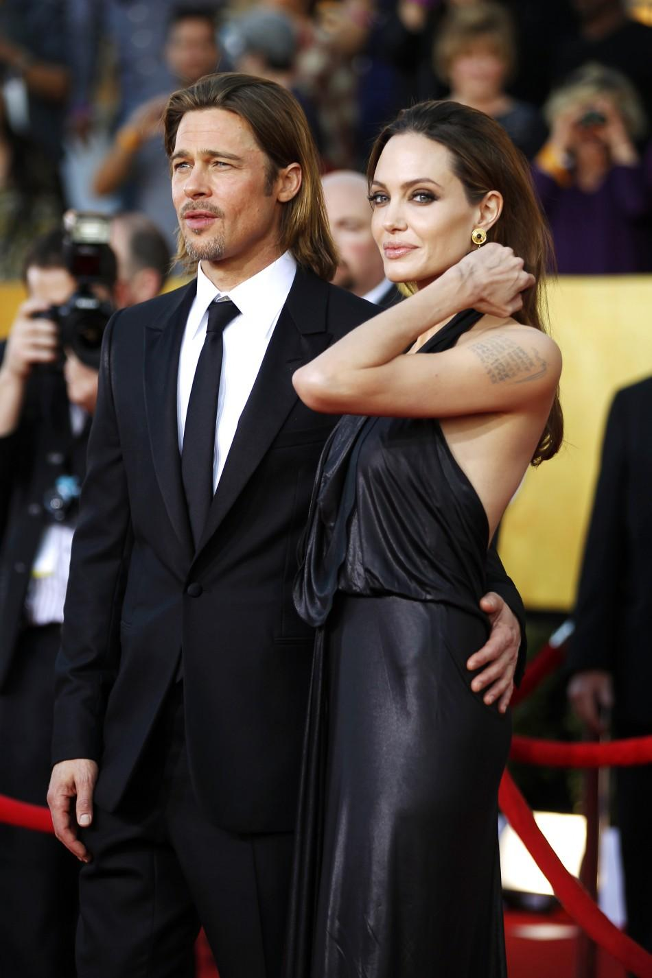 Brad-Angelina: Most Photographed Celeb Couple at SAG Awards 2012 (PHOTOS)