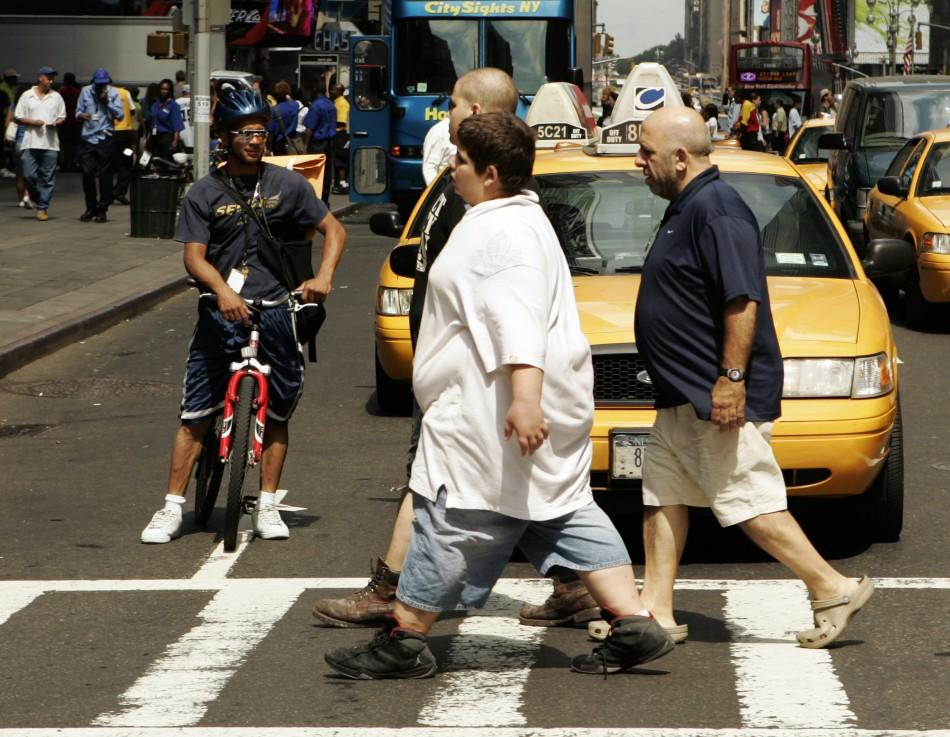 Overweight teenager in New York City