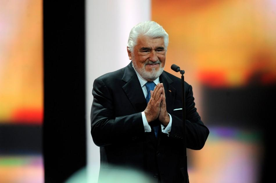 """German actor Mario Adorf speaks before being awarded for Category """"Lifetime Achievement"""" during the 47th Golden Camera award ceremony in Berlin February 4, 2012. The Golden Cameras (Goldene Kamera) are awarded by a popular German TV-magazine hon"""
