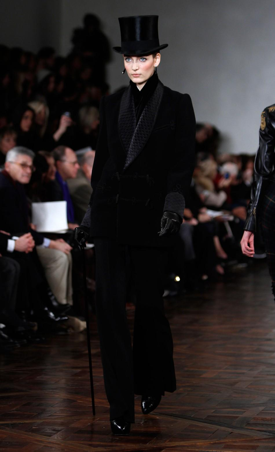 Ralph Lauren's 'Very British' Collection at the 2012 NY Fashion Week Finale