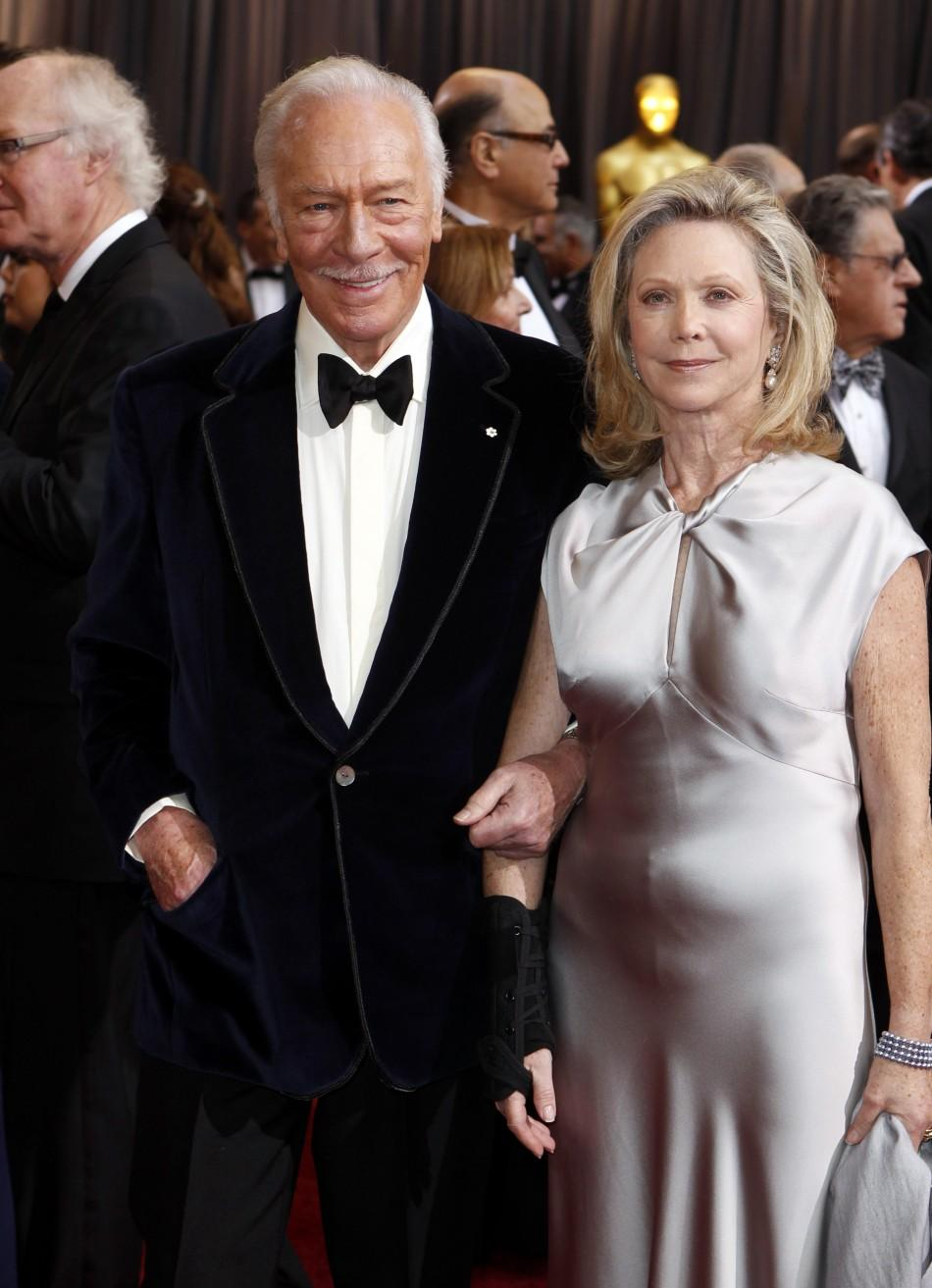"Actor Christopher Plummer, best supporting actor nominee for his role in ""Beginners"", and his wife, Elaine Taylor, arrive at the 84th Academy Awards in Hollywood"
