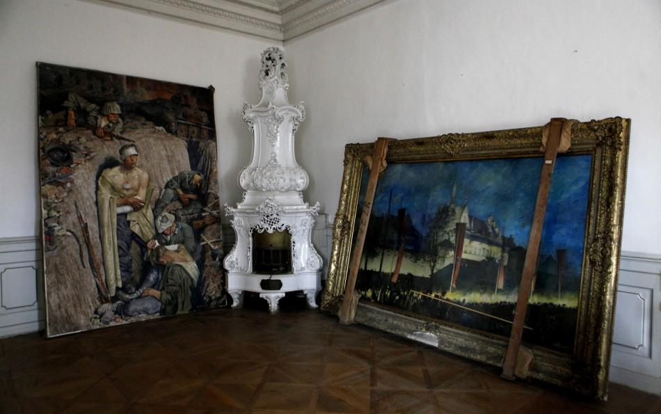 Paintings from Adolf Hitler's private art collection rest at the Doksany Monastery near Prague
