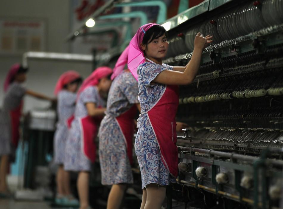 North Korean Silk Mill