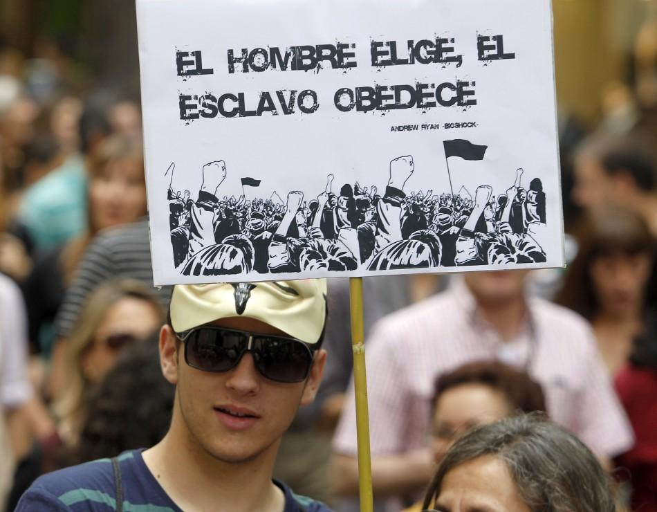 Spain's Indignados Mark Anti-Austerity Protest Anniversary (PHOTOS)